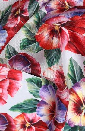 Женский шелковый платок DOLCE & GABBANA разноцветного цвета, арт. FN092R/GDS57 | Фото 2