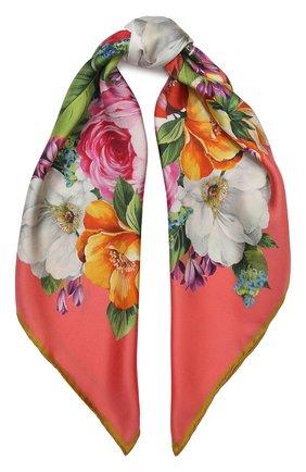 Женский шелковый платок DOLCE & GABBANA оранжевого цвета, арт. FN092R/GDS50 | Фото 1