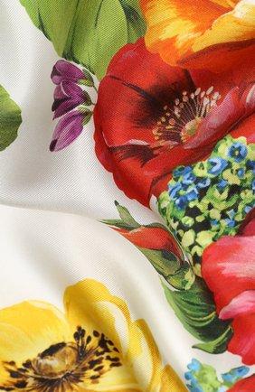 Женский шелковый платок DOLCE & GABBANA оранжевого цвета, арт. FN092R/GDS50 | Фото 2