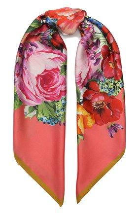 Женский шелковый платок DOLCE & GABBANA оранжевого цвета, арт. FN090R/GDS51 | Фото 1