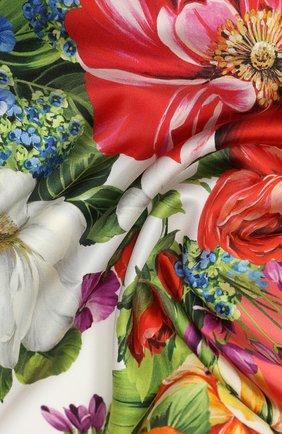 Женский шелковый платок DOLCE & GABBANA оранжевого цвета, арт. FN090R/GDS51 | Фото 2