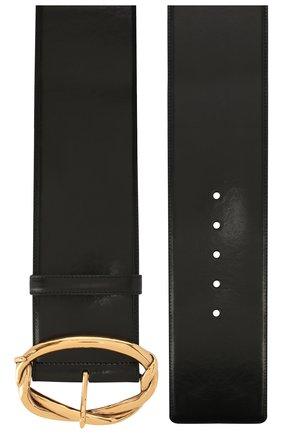 Женский кожаный пояс ALEXANDER MCQUEEN черного цвета, арт. 621403/1BR0T | Фото 2