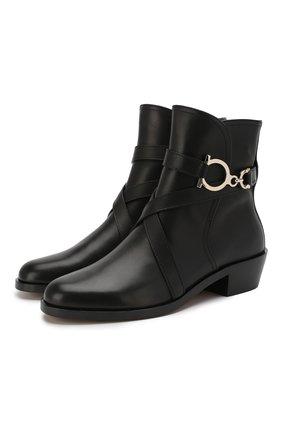 Женские кожаные ботинки SALVATORE FERRAGAMO черного цвета, арт. Z-07265901C | Фото 1