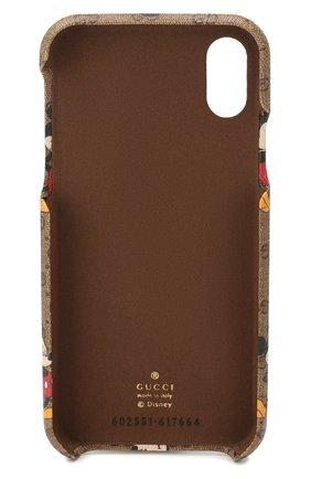 Мужской чехол для iphone xs max disney x gucci GUCCI коричневого цвета, арт. 602551/HWYAM | Фото 2