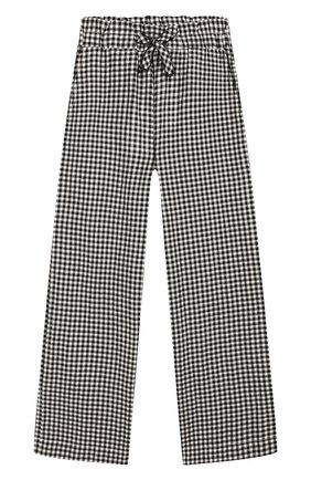 Детские брюки LES COYOTES DE PARIS черно-белого цвета, арт. 111-30-099   Фото 1