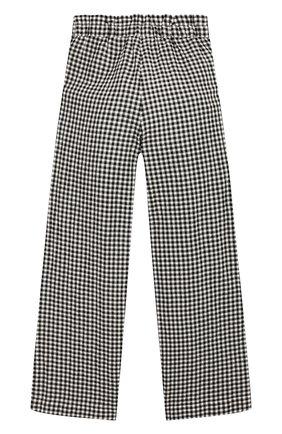 Детские брюки LES COYOTES DE PARIS черно-белого цвета, арт. 111-30-099   Фото 2