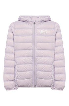 Детского пуховая куртка с капюшоном EA 7 сиреневого цвета, арт. 8NBB34/BN29Z | Фото 1