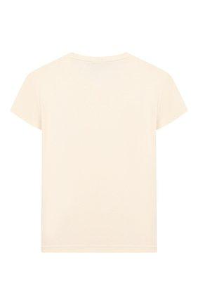 Детская футболка PAADE MODE бежевого цвета, арт. 20211502/6M-8Y | Фото 2