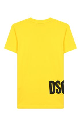 Детская хлопковая футболка DSQUARED2 желтого цвета, арт. DQ03NY-D00MQ | Фото 2