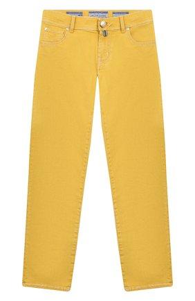 Детские джинсы JACOB COHEN желтого цвета, арт. 620 J-03002-W4 | Фото 1