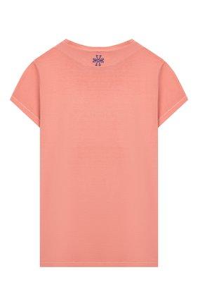 Детская хлопковая футболка JACOB COHEN оранжевого цвета, арт. J2011 J-80001-V | Фото 2