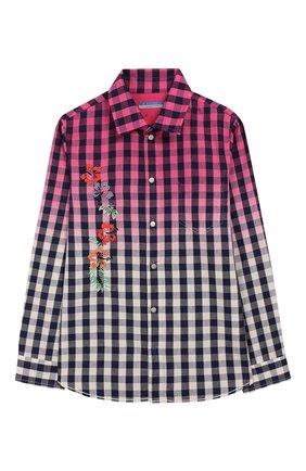 Детское хлопковая рубашка JACOB COHEN розового цвета, арт. J3017 J-30004-V | Фото 1