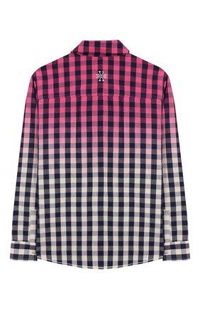 Детское хлопковая рубашка JACOB COHEN розового цвета, арт. J3017 J-30004-V | Фото 2