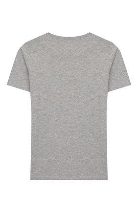 Детская хлопковая футболка JACOB COHEN серого цвета, арт. J4015 J-80001-L | Фото 2
