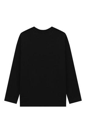 Детская хлопковый лонгслив MOSCHINO KID черного цвета, арт. HU0000/LBA10/4A-8A | Фото 2