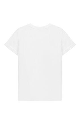 Детская хлопковая футболка MOSCHINO KID белого цвета, арт. HMM02C/LBA10/10A-14A | Фото 2
