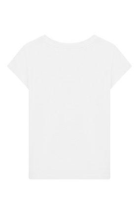 Детская хлопковая футболка MOSCHINO KID белого цвета, арт. HEM020/LBA10/4A-8A | Фото 2