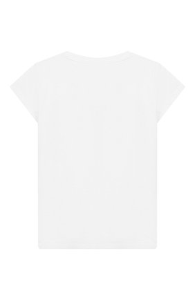 Детская хлопковая футболка MOSCHINO KID белого цвета, арт. HEM020/LBA10/10A-14A | Фото 2