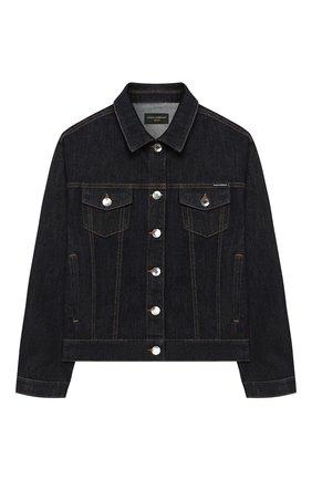 Детская джинсовая куртка DOLCE & GABBANA темно-синего цвета, арт. L51B42/LD887/8-14 | Фото 1
