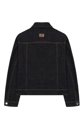 Детская джинсовая куртка DOLCE & GABBANA темно-синего цвета, арт. L51B42/LD887/8-14 | Фото 2