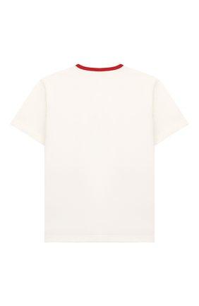 Детская хлопковая футболка DOLCE & GABBANA белого цвета, арт. L4JTAU/G7VQA/2-6 | Фото 2