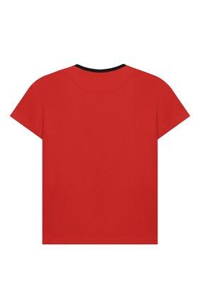 Детская хлопковая футболка DOLCE & GABBANA красного цвета, арт. L4JT6S/G7VL0/2-6 | Фото 2