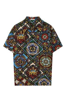 Детская хлопковая рубашка DOLCE & GABBANA разноцветного цвета, арт. L43S06/HS5GL/8-14 | Фото 1