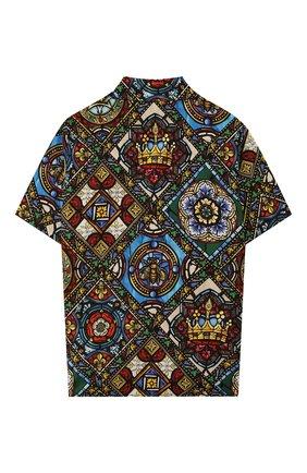 Детская хлопковая рубашка DOLCE & GABBANA разноцветного цвета, арт. L43S06/HS5GL/8-14 | Фото 2