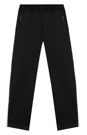 Детские хлопковые брюки DOLCE & GABBANA черного цвета, арт. L43P27/G7V0G/2-6   Фото 1