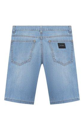 Детские джинсовые шорты DOLCE & GABBANA голубого цвета, арт. L42Q37/LD879/2-6   Фото 2