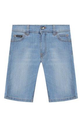 Детские джинсовые шорты DOLCE & GABBANA голубого цвета, арт. L42Q37/LD879/8-14 | Фото 1