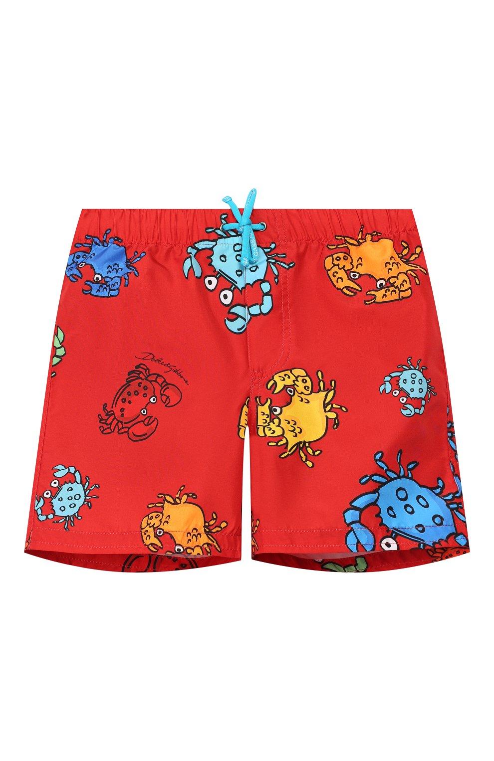 Детского плавки-шорты DOLCE & GABBANA красного цвета, арт. L1J818/HSMJM   Фото 1
