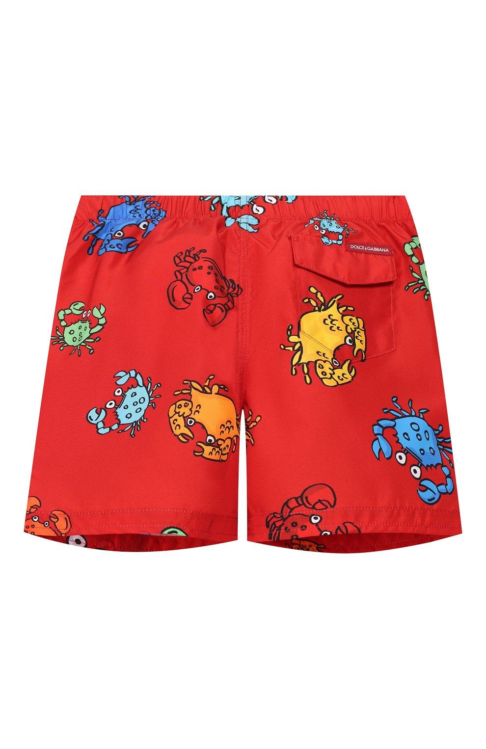 Детского плавки-шорты DOLCE & GABBANA красного цвета, арт. L1J818/HSMJM   Фото 2