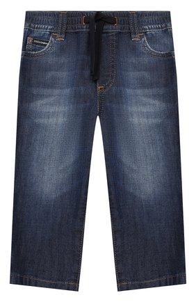 Детские джинсы DOLCE & GABBANA синего цвета, арт. L13P30/LD878 | Фото 1