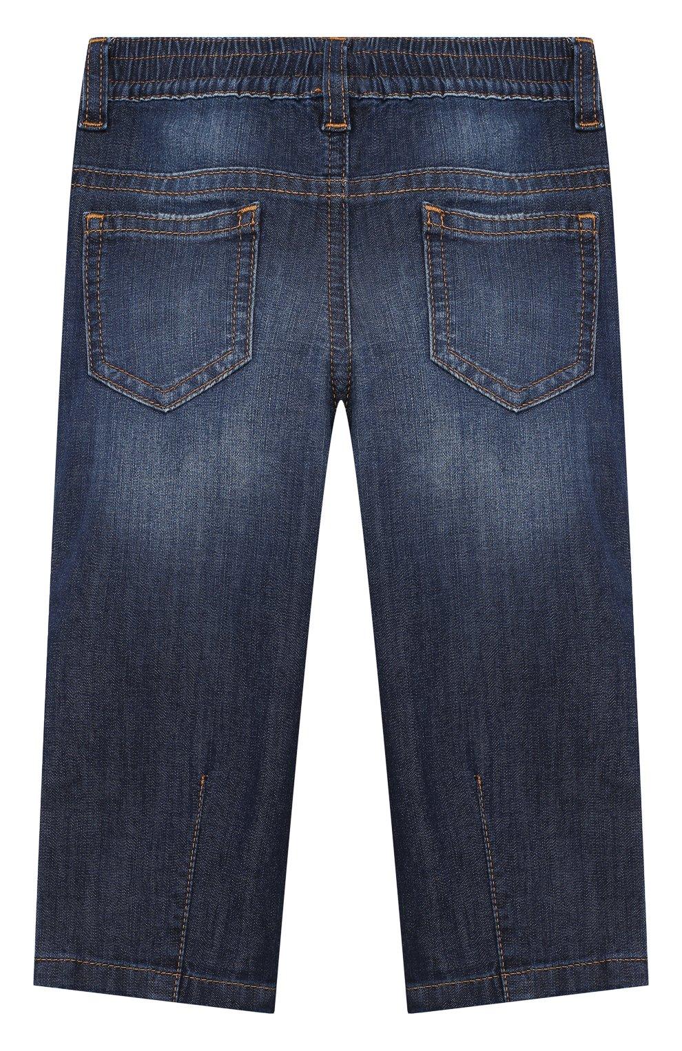 Детские джинсы DOLCE & GABBANA синего цвета, арт. L13P30/LD878   Фото 2