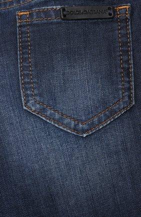Детские джинсы DOLCE & GABBANA синего цвета, арт. L13P30/LD878   Фото 3