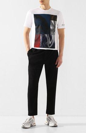 Мужская хлопковая футболка Z ZEGNA белого цвета, арт. VU372/ZZ630Q   Фото 2