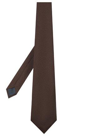 Мужской шелковый галстук LANVIN коричневого цвета, арт. 1207/TIE   Фото 2
