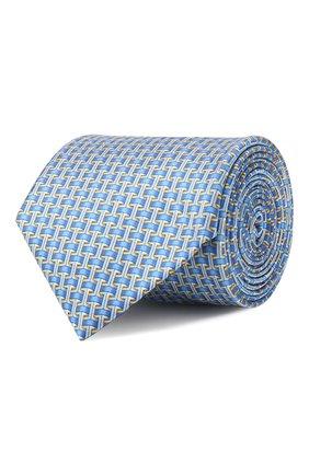 Мужской шелковый галстук LANVIN голубого цвета, арт. 2840/TIE   Фото 1