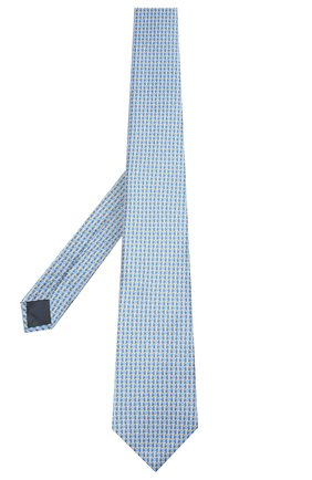 Мужской шелковый галстук LANVIN голубого цвета, арт. 2840/TIE   Фото 2
