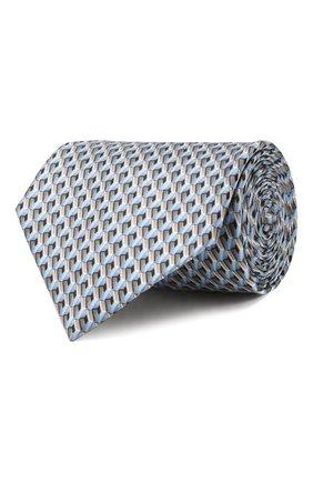 Мужской шелковый галстук LANVIN серого цвета, арт. 2864/TIE   Фото 1
