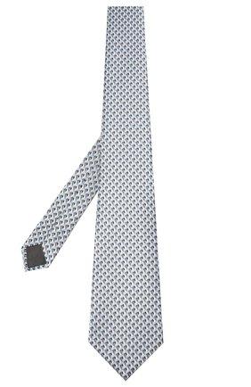 Мужской шелковый галстук LANVIN серого цвета, арт. 2864/TIE   Фото 2