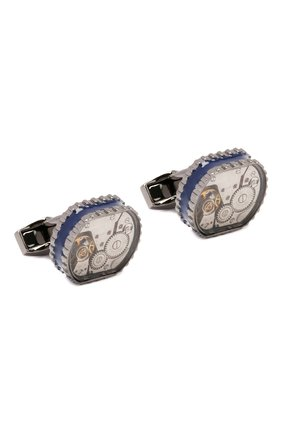 Мужские запонки TATEOSSIAN синего цвета, арт. CL7705 | Фото 1