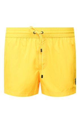 Мужские плавки-шорты DOLCE & GABBANA желтого цвета, арт. M4A73T/FUSFW | Фото 1 (Материал внешний: Синтетический материал; Принт: Без принта; Кросс-КТ: Пляж; Мужское Кросс-КТ: плавки-шорты)