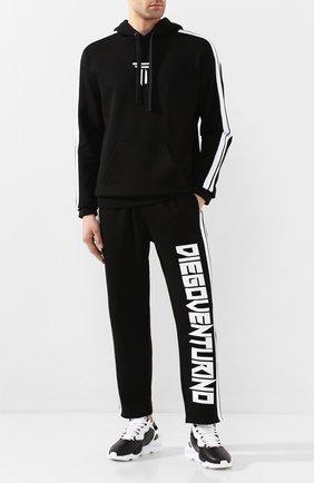 Мужские кожаные кроссовки kaiwa Y-3 черно-белого цвета, арт. EH1398/M | Фото 2