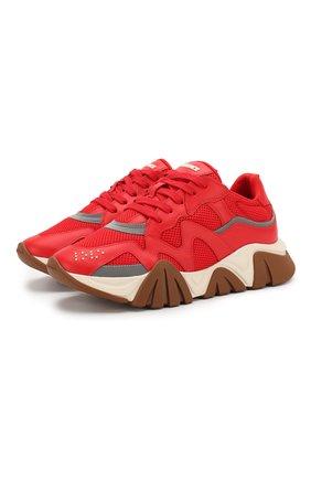 Мужские комбинированные кроссовки squalo VERSACE красного цвета, арт. DSU7703/DVTREG | Фото 1