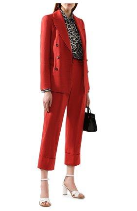 Женский жакет из смеси льна и хлопка BRUNELLO CUCINELLI красного цвета, арт. MF5918924 | Фото 2