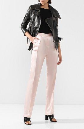 Женские брюки со стрелками ACT N1 розового цвета, арт. RP2004 | Фото 2