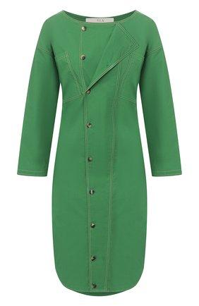 Женское хлопковое платье TELA зеленого цвета, арт. 01 5818 01 9965 | Фото 1