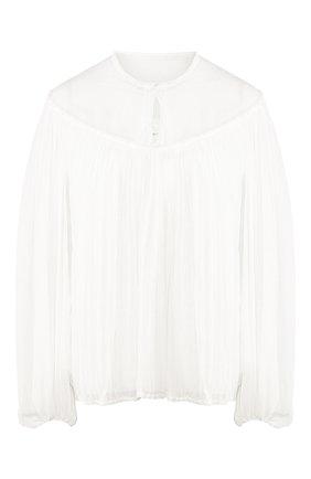 Женская шелковая блузка CHLOÉ белого цвета, арт. CHC20SHT84006 | Фото 1